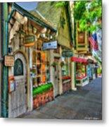 Carmel, Ca. The Shops Of Ocean Ave. Metal Print