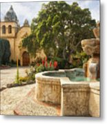 Carmel Church And Fountain Metal Print