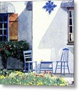 Carmel Cottage With Orange Metal Print by David Lloyd Glover