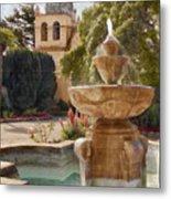 Carmel Fountain Courtyard Metal Print