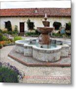 Carmel Mission Courtyard Metal Print