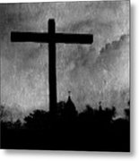 Carmel Mission Cross Metal Print