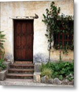Carmel Mission Door Metal Print