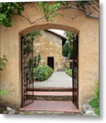 Carmel Mission Path Metal Print