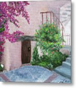 Carmel Mission Side Door Metal Print