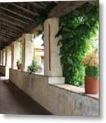 Carmel Mission Walkway Metal Print