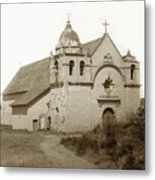 Carmel Mission  With The New Peaked Roof  1884 Metal Print