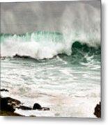 Carmel Wave Rock Metal Print