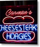 Carmens Cheesesteaks Metal Print