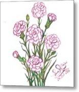Carnation Pink Metal Print