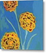 Carnations Against A Summer Sky Metal Print