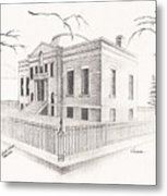 Carnegie Library Mitchell South Dakota Metal Print