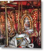 Carnival - The Carousel Metal Print