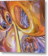 Carnival Abstract Metal Print