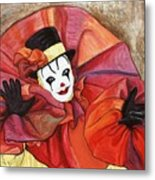 Carnival Clown Metal Print