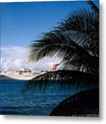 Carnival Docked At Grand Cayman Metal Print