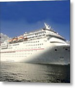 Carnival Inspiration Cruise Ship Metal Print