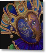 Carnival Peacock Jester Metal Print by Patty Vicknair
