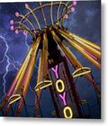 Carnival Ride Metal Print