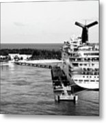 Carnival Sensation Cruise Ship - Grand Turk Island Metal Print