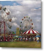 Carnival - Traveling Carnival Metal Print by Mike Savad