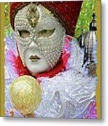 Carnivale Mask #10 Metal Print