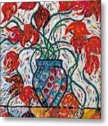 Carnivale Of Flowers Metal Print