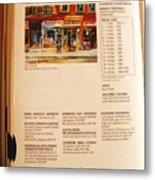 Carole Spandau Listed In  Magazin'art Biennial Guide To Canadian Artists In Galleries 2000-2001 Edit Metal Print