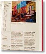 Carole Spandau Listed In Magazin'art Biennial Guide To Canadian Artists In Galleries 2009-2010 Edit Metal Print