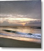 Carolina Beach Morning Metal Print