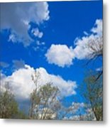 Carolina Blue Sky After The Rain Metal Print