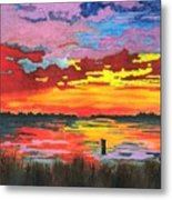 Carolina Sunset Metal Print