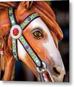 Carousal Horse Metal Print