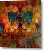 Carousel Faces, Twins Metal Print