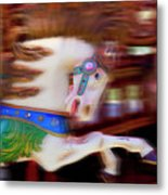 Carousel Horse In Motion Metal Print