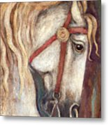 Carousel Horse Painting Metal Print