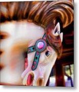 Carousel Horse Portrait Metal Print