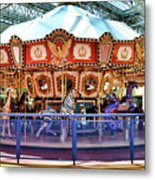 Carousel Inside The Mall Metal Print