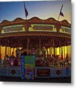 Carousel Sunset Metal Print
