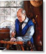 Carpenter - The Woodturner Metal Print