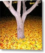 Carpet Of Leaves Metal Print