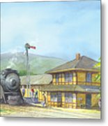 Carpinteria Train Depot Metal Print