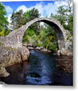 Carr Bridge Scotland Metal Print