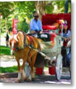 Carriage Colors Metal Print