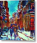 Carriage Ride Through The Old City Metal Print