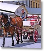 Carriage Through The City Metal Print