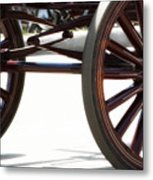 Carriage Wheels Metal Print
