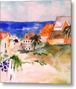 Carribean Village Metal Print