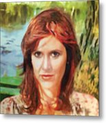 Carrie Fisher Metal Print