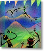 Carried Away By Her Imagination Metal Print